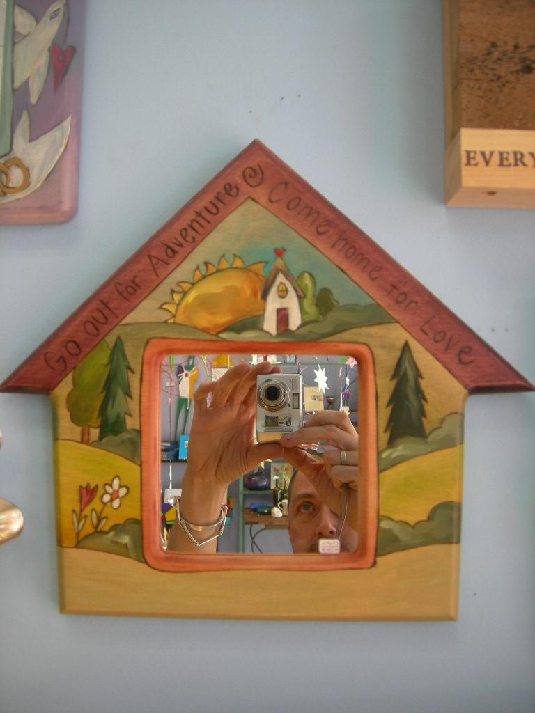 Sticks house mirror