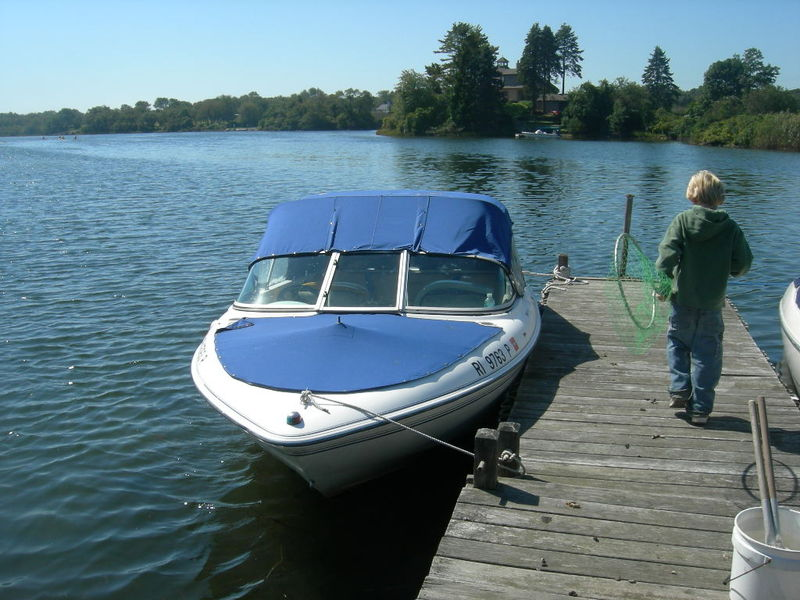 Boat and dock