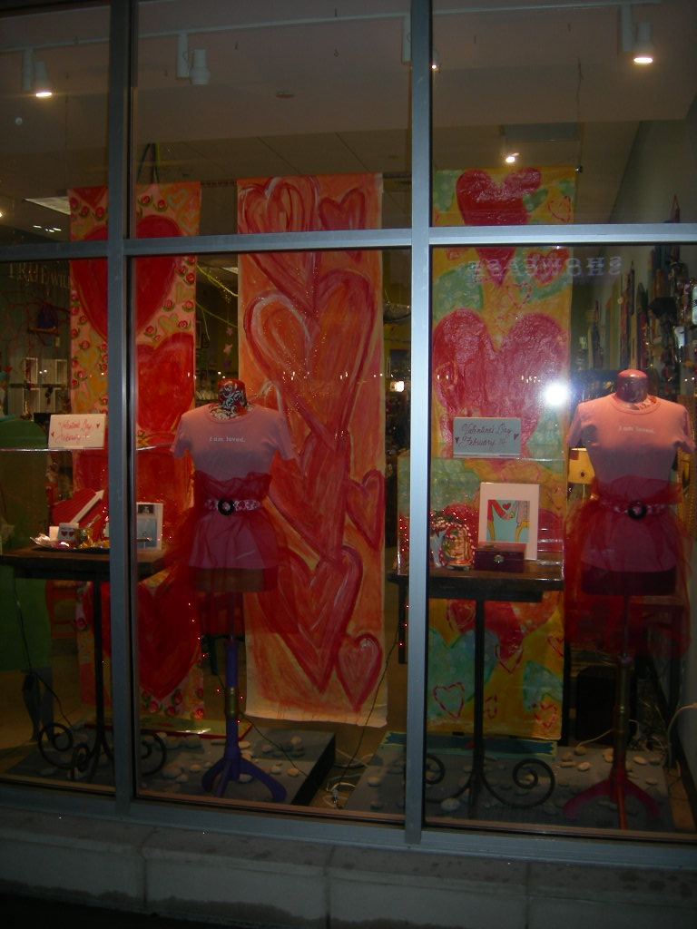 Vday window night
