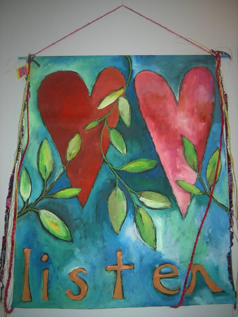 Vday heart canvas