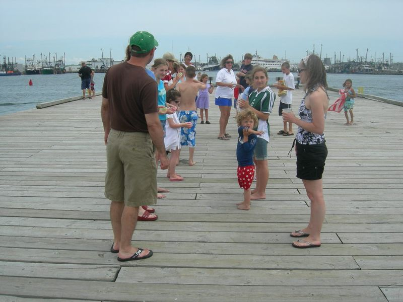Games on the dock