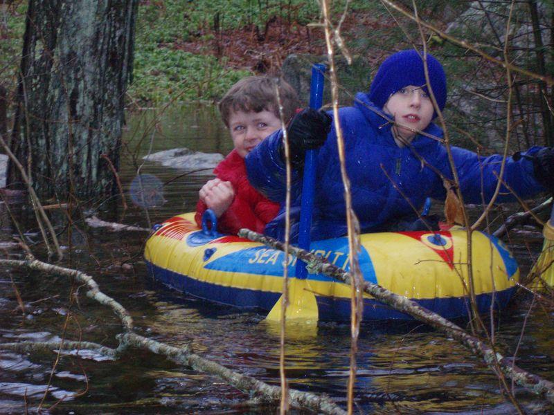 Flood boys yard