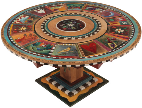 Sticks Furniture And Object Art Is Made In Des Moines Iowa. The Round  Tables Start At 3 Foot And Go Up To 8 Foot In Diameter